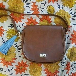 Vintage genuine leather crossbody